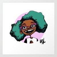 cartoon UNO SEIS TRES Art Print