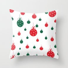 Chistmas balls Throw Pillow