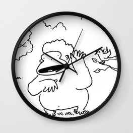 A Little Bird Tells Ape Wall Clock