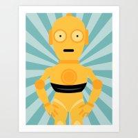 C3PO STAR WARS WALL ART PRINT Art Print