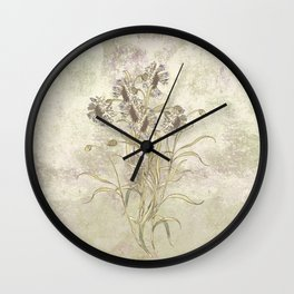 The flowers are singing Wall Clock