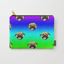 Pug Face Drawing Rainbow Pattern Carry-All Pouch