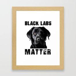 Black Labs Framed Art Print