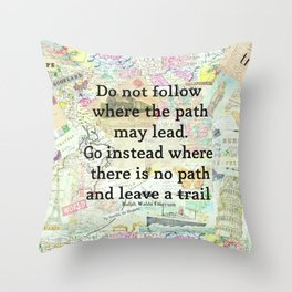 Travel Quote Emerson Throw Pillow