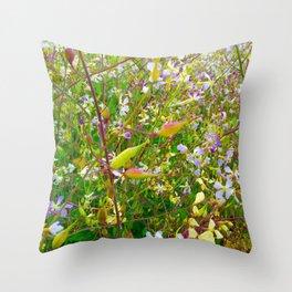 Vibrant Yellow-Green Meadow Throw Pillow