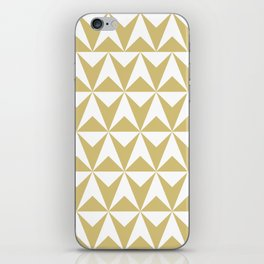 Mid Century Modern Triangle Pattern 531 Gold iPhone Skin