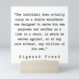55 |   Sigmund Freud Quotes | 190926 Mini Art Print