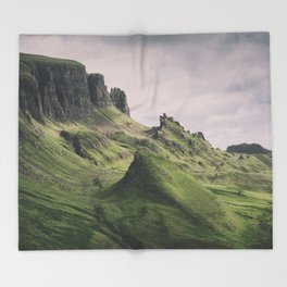 The Majesty of the Quiraing Throw Blanket