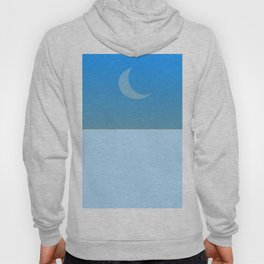 Waning moon by day Hoody