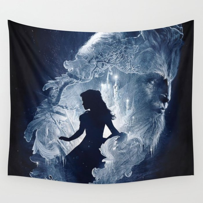 Beauty and the beast Wall Tapestry