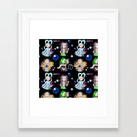 artrave Framed Art Prints featuring #artRAVE Pattern by Aldo Monster