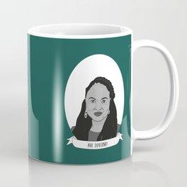 Ava DuVernay Illustrated Portrait Coffee Mug