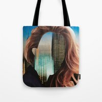 sin city Tote Bags featuring Sin City by Imogen Art