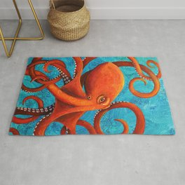 Holding On - Octopus Rug