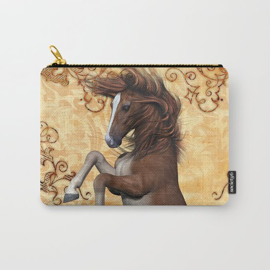 Awesome brown horse  Carry-All Pouch
