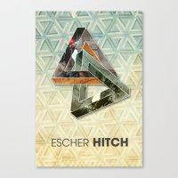 escher Canvas Prints featuring escher hitch by Vin Zzep