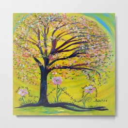 A Tree Planted by the Water Metal Print