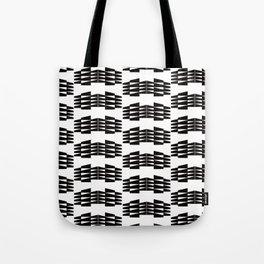 Tribal Triangle Kilim in Black + White Tote Bag