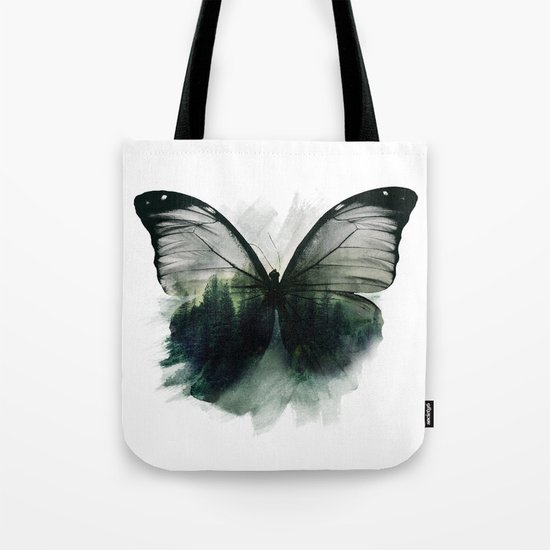 Double Butterfly Tote Bag
