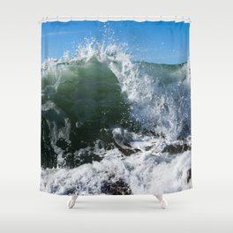 Breaking Point Shower Curtain