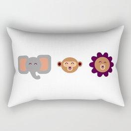 Wild(ish) Rectangular Pillow