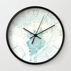 Wind tangle Wall Clock
