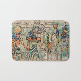 Egyptian Gods on canvas Bath Mat