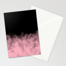 Pink Clouds on Black Stationery Cards