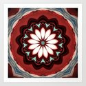 Decorative Deep Red and White Flower Design by artaddiction45