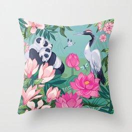 Under the Magnolia Blossom Throw Pillow
