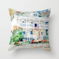 american beauty Throw Pillows featuring American Beauty by Bowles Fine Paintings
