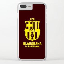 Slogan Barcelona Clear iPhone Case