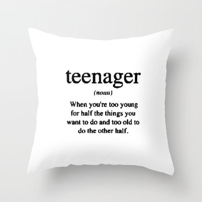 Teenager Throw Pillow By Sjae Society6