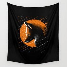 Rising fox Wall Tapestry