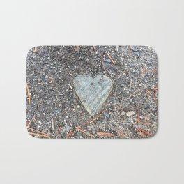 Wild Rock Heart Bath Mat