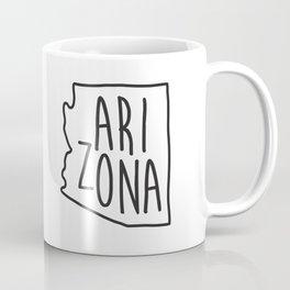 Arizona Map Print Coffee Mug