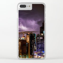 Bangkok Thunderstorms Clear iPhone Case