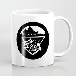 EXPORTS STAMP - Black Coffee Mug
