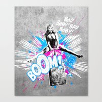 girl power Canvas Prints featuring Girl Power by victor calahan