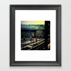 The Graffiti Bridge Framed Art Print