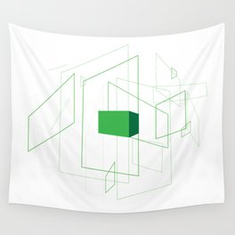 Blueprint #1 (green) Wall Tapestry