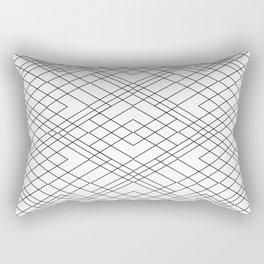 Black and White Circuit Rectangular Pillow