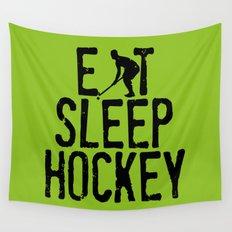 Eat Sleep Hockey Wall Tapestry