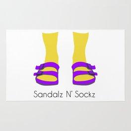 Sandalz N' Sockz Rug