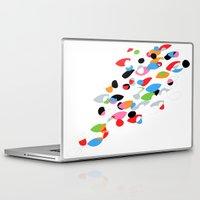 swimming Laptop & iPad Skins featuring Swimming by Nicki Traikos
