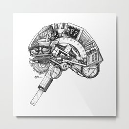 Left Brain Metal Print