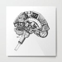 Left Brain Metal Print