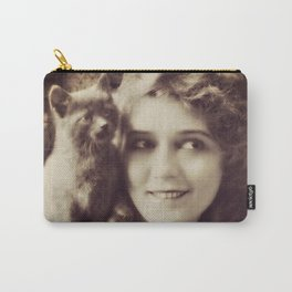 Mary Pickford - Vintage Lady with kitten Carry-All Pouch