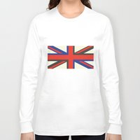 uk Long Sleeve T-shirts featuring UK  by Akehworks