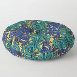 Thai Naga Gold Floor Pillow